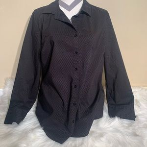 George Size 20 Button Down Blouse Polka Dot Long